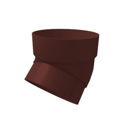 Колено трубы 45 градусов ПВХ Grand Line Шоколадный - фото #1