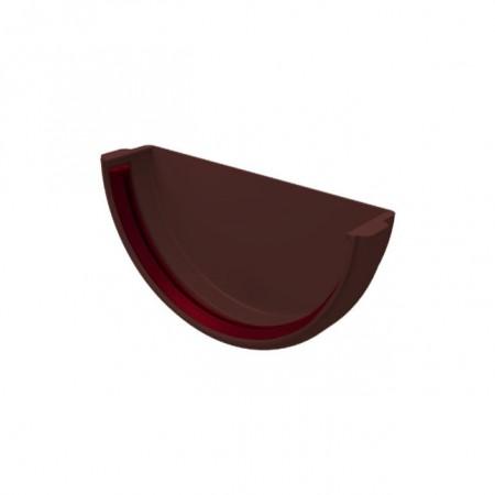 Заглушка желоба универсальная ПВХ Grand Line Шоколадный - фото #1
